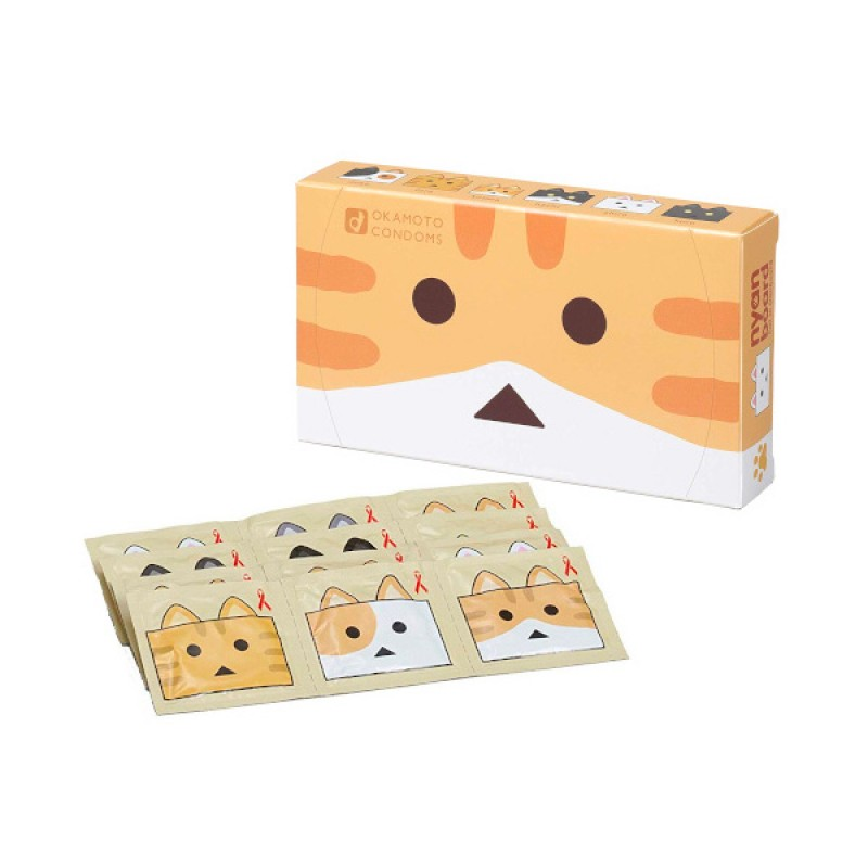 Okamoto 岡本 x 喵阿愣 (nyanboard貓咪紙箱人版本) 安全套 12片裝