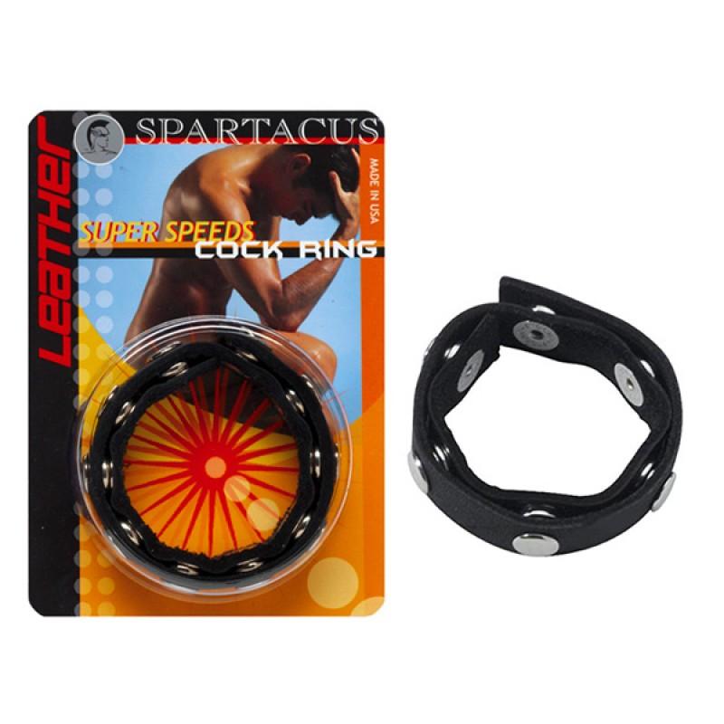Spartacus Super Speeds 真皮持久陽具環
