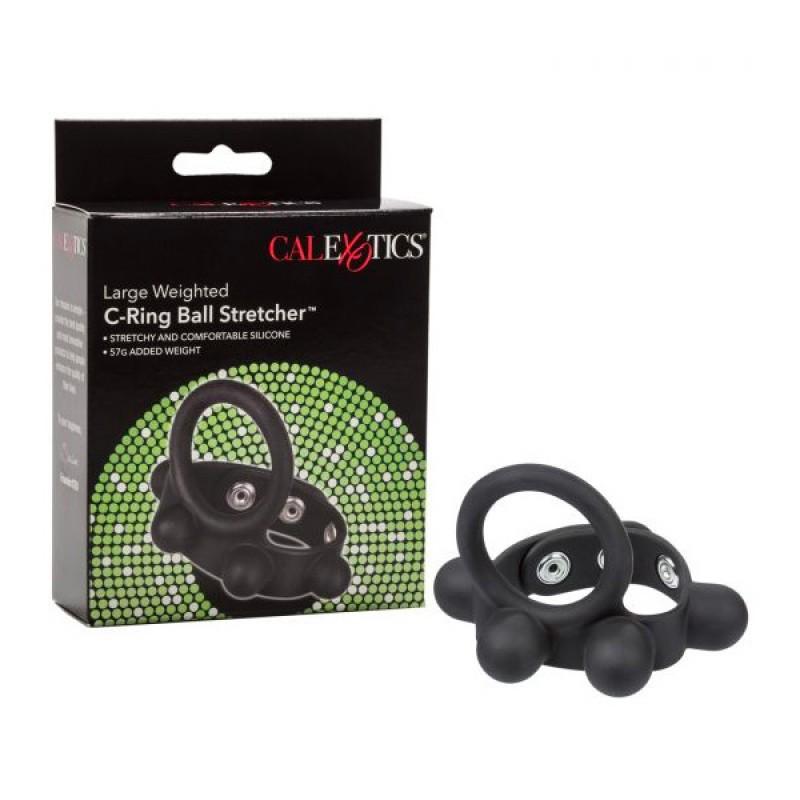 CalExotics 大碼重量C型 持久矽膠陽具環
