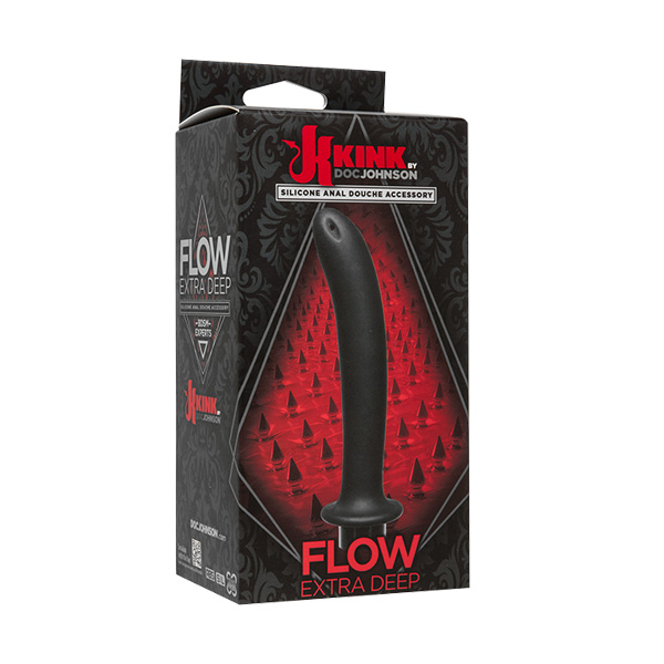 Kink Flow Extra Deep Silicone Anal Douche