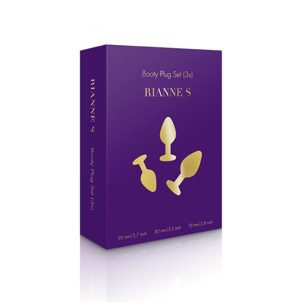 情趣用品荷蘭 Rianne S Soiree 水晶矽膠肛塞套裝