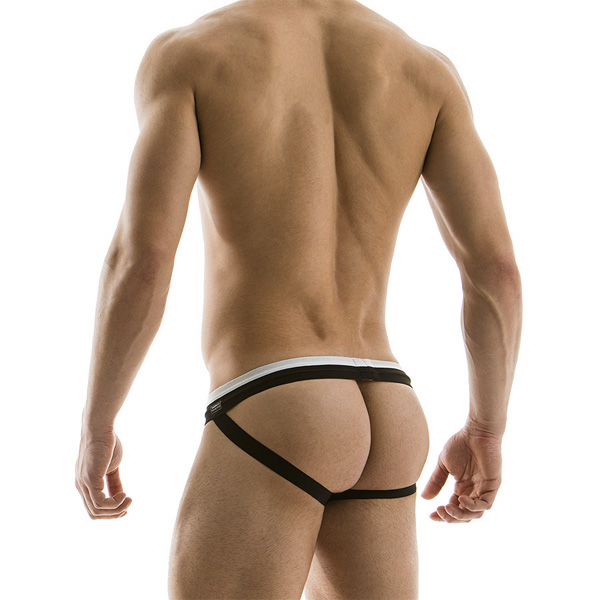 希臘 Modus Vivendi - Black and White Jockstrap 性感內褲