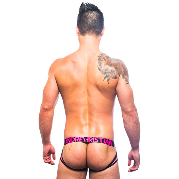 Andrew Christian - Sizzle Stripe Comfort Jock w/ Almost Naked