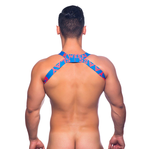 Andrew Christian Slay Harness Electric Blue