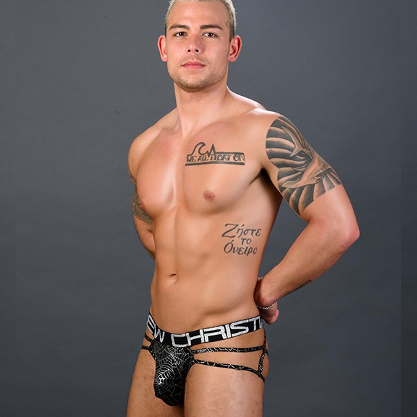 Andrew Christian - Metallic Web Thong w/ Almost Naked