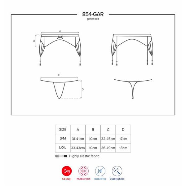 Obsessive - 854 garter belt & thong