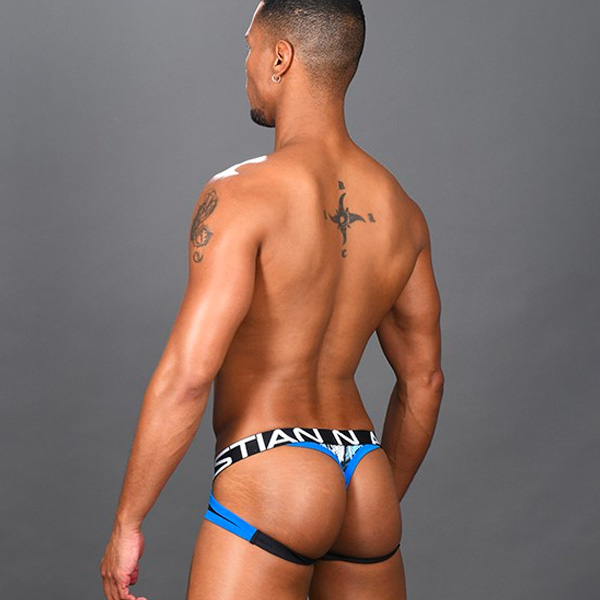 Andrew Christian - Shockwave Mesh Brief Jock Thong w/ Almost Naked