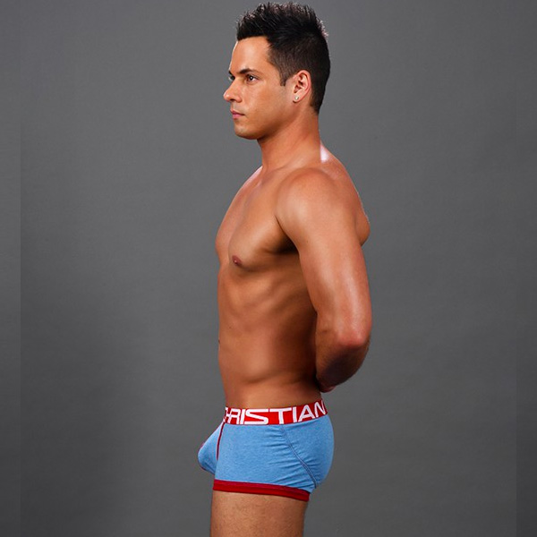 Andrew Christian - FlashLift Boxer w/ Show-It Heather Blue