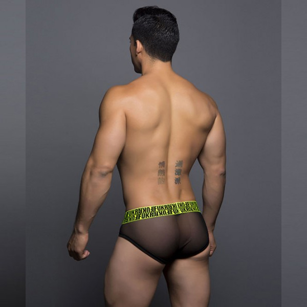 情趣用品Andrew Christian - Netting Brief Black