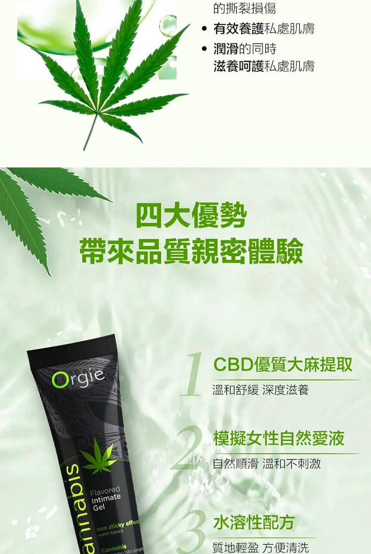 Orgie LUBE TUBE CANNABIS 大麻籽油 口交潤滑液
