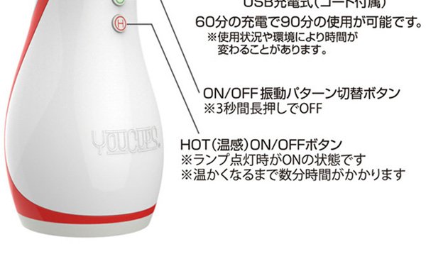 成人用品日本 YouCups Electric Deep HOT 口交電動飛機杯