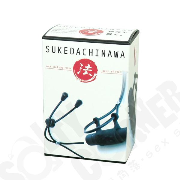 情趣用品日本 SUKEDACHINAWA (法) 堅挺震動持久領帶環