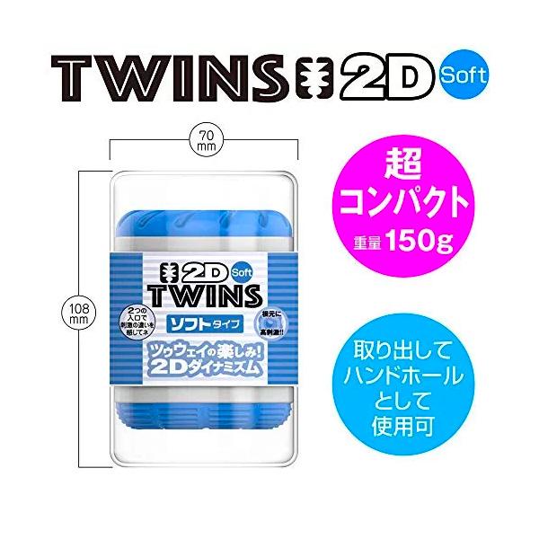 YouCups Twins 2D 貫通型雙頭飛機杯 藍色 柔軟型