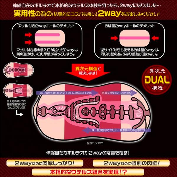 Magic Eyes - 極彩名器 Uterus Duo 小紅帽的雙子宮 飛機杯
