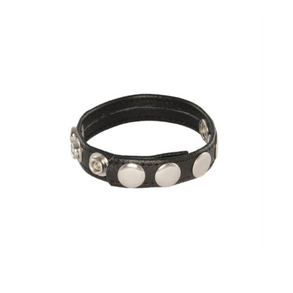 IGNITE Leather 5-snap Cock Ring