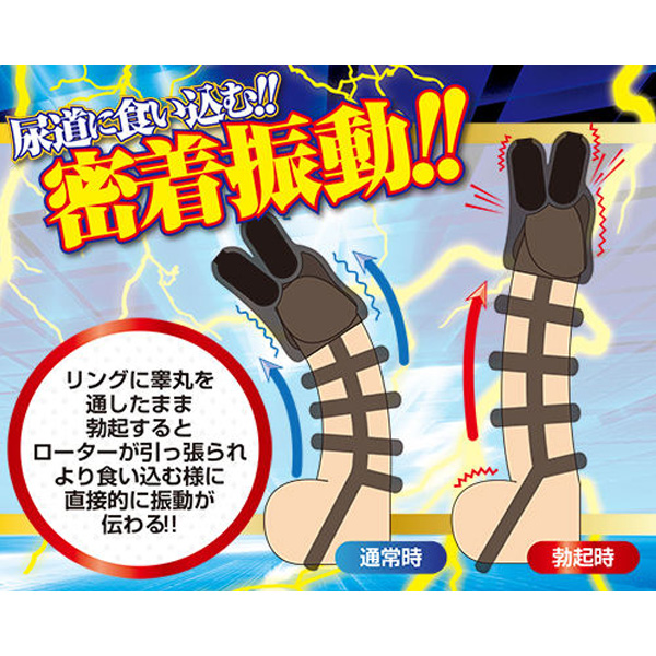 成人用品日本 A-One 密着感尿道 x 龜頭震動刺激器 - 黑鎖 V