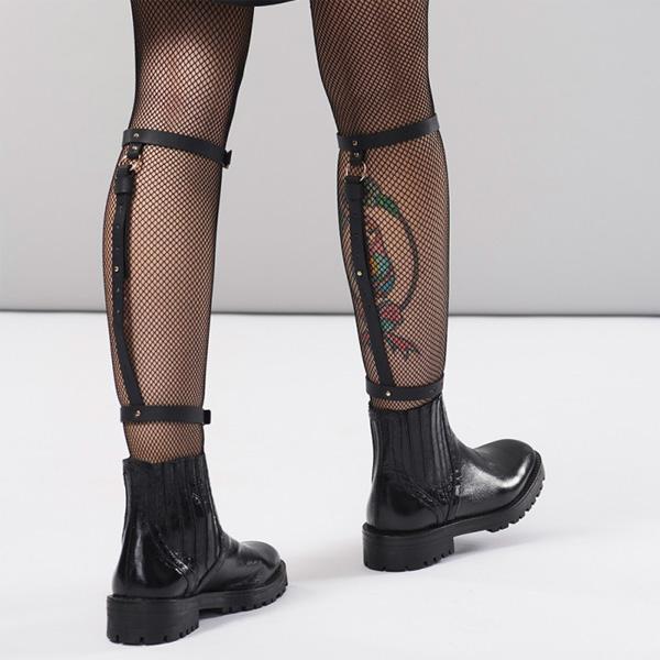 Bijoux Indiscrets MAZE - Back Leg Garter Black