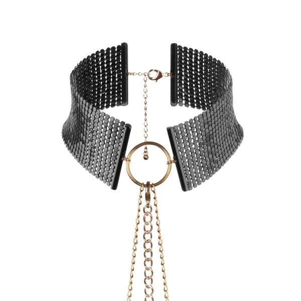 Bijoux Indiscrets - Metallic mesh black collar