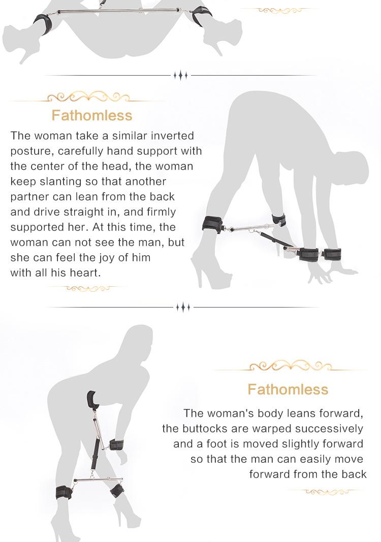 RoomFun Sex Position Master Thigh Spreader Easy Access Sex Bondage Kit