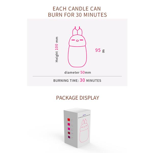 Roomfun Rabbit Shaped Low Temperature Dual Wicks Candles