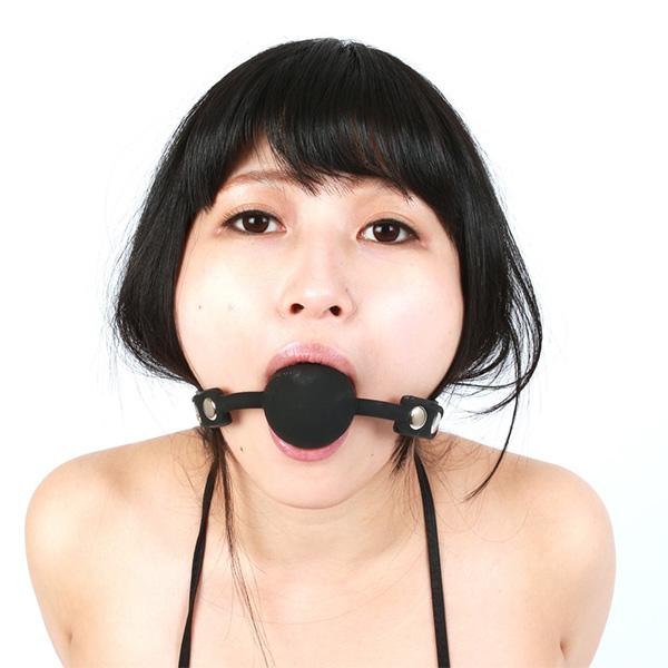 情趣用品日本 SM VIP 黑色口枷鍵付