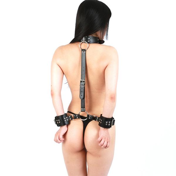 情趣用品日本 SM VIP 頸項連背後手枷拘束
