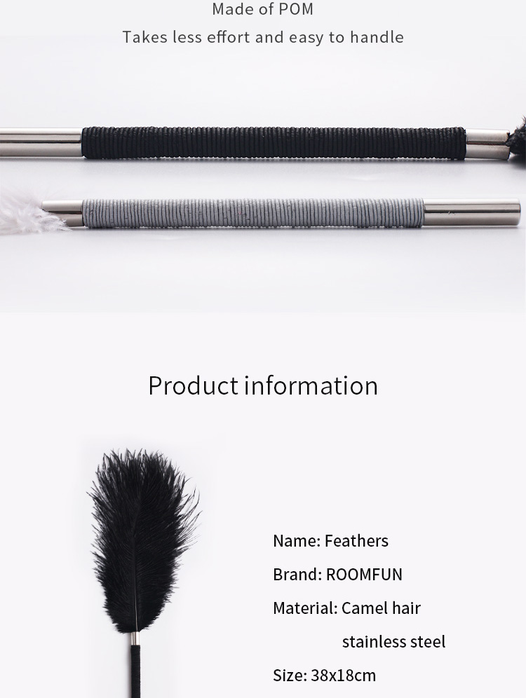 RoomFun Feather Tickler - Black