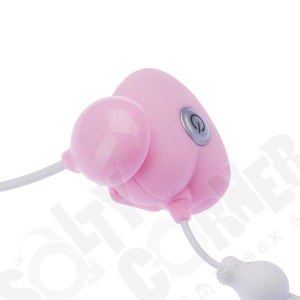 成人用品日本 Nemo Love & Leaf CHARGE [W] USB 充電式遙控迷你雙震蛋