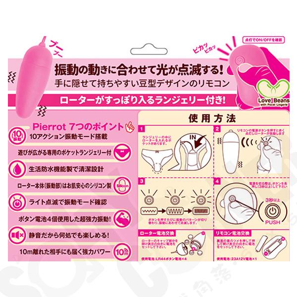 成人用品日本 Pierrot 遙控迷你震蛋內褲套裝