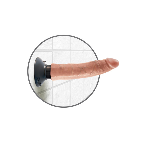 King Cock 7 inch Cock Flesh Vibrating