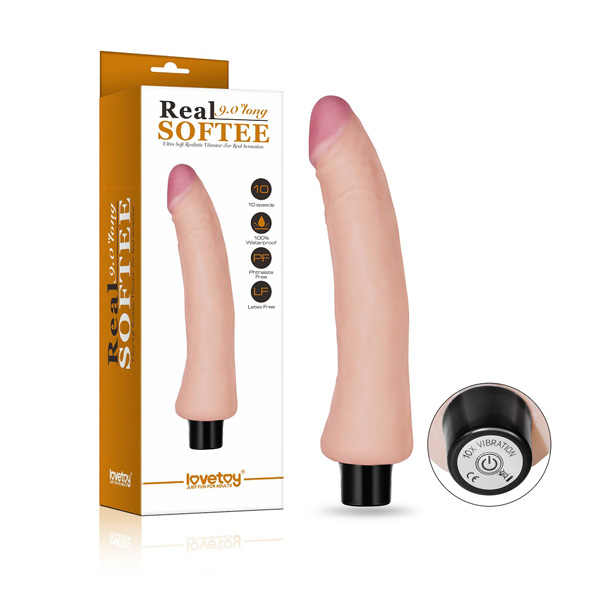 LoveToy REAL SOFTEE Vibrating Dildo 7 inch