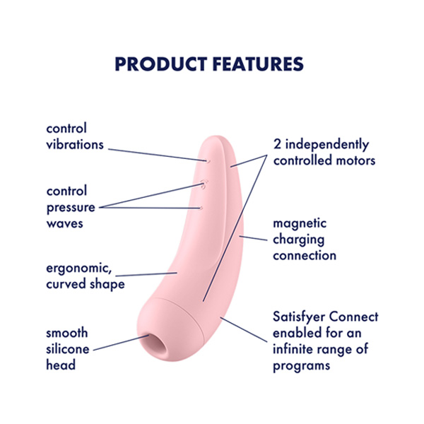 Satisfyer Curvy 2 + App Contolled Clitoral Stimulator with Vibration