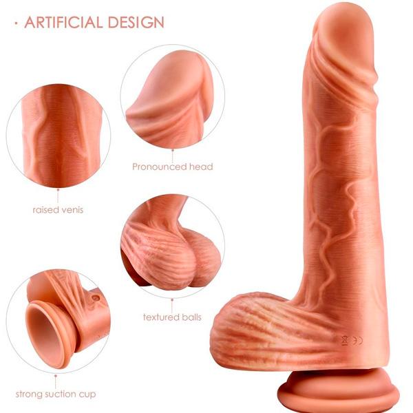 Erocome - Hercules 吸盤式自動伸縮震動仿真陽具