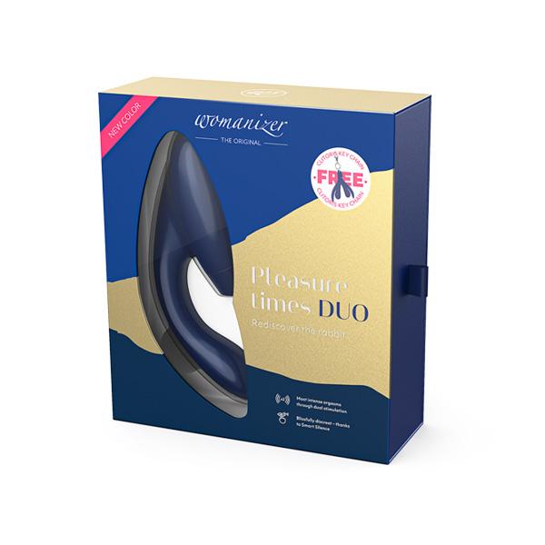 WOMANIZER DUO - Blueberry Dual-Stimulaion Suction Vibrator